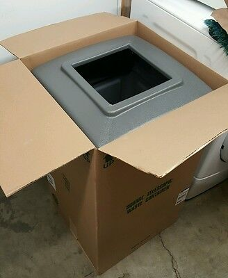 Commercial Zone Products 732103 42-gallon Square Waste Container Gray