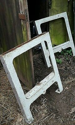 cast iron vintage / antique table / workbench legs industrial
