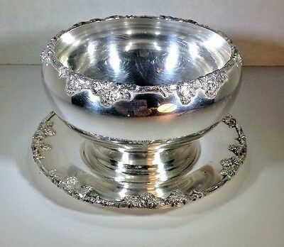 Crescent Silver Mfg. Co. S.P.N.S. Bowl and Saucer Sugar Dish