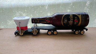 Ho Diecast Futuristic Truck With Beer Bottle Trailer