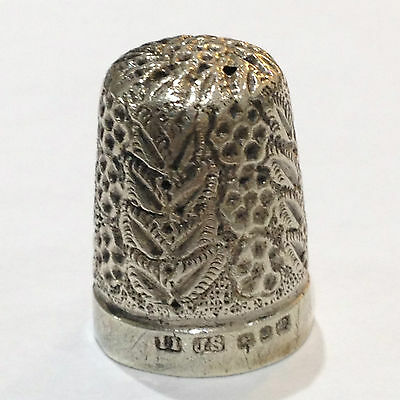 Victorian Sterling Silver Thimble,  J.S,  Birmingham England  1800's Size 11