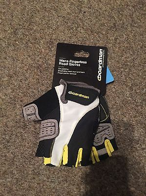 Boardman Men's Fingerless Cycle Mitts Road Gloves Size M (NEW)