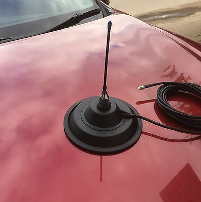 STRONG MAGNETIC BASE WITH 1/4-WAVE 477Mhz UHF CB WHIP ANTENNA