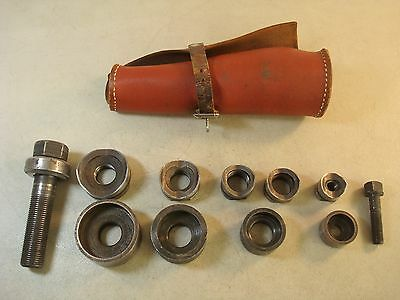Vtg GREENLEE No. 735 Knock Out Punch w/Leather Pouch