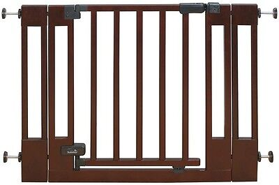 Summer Infant Sure and Secure Baby Saftey Stairs Wood Walk-Thru Gate NEW