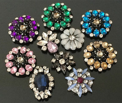 Patches Rhinestone Flower Applique clothing accessory sweater shoes jean sock