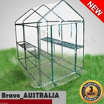 Walk-In Greenhouse Extra Large Apex Roof Garden Shed with Cover - Hot House