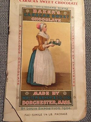 Antique Cookbook Baker's Chocolate Walter Baker & Co St Louis Expo 1904
