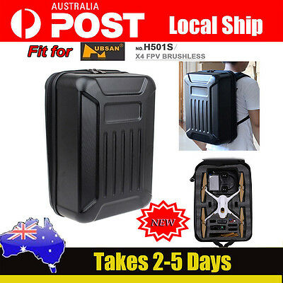 Quadcopter Hard Shell Backpack Case Bag Box For Hubsan X4 H501S FPV RC Drone NEW