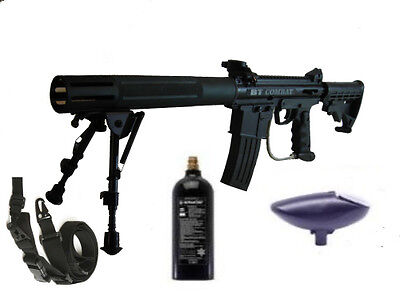 BT Combat SD Paintball Marker &  Mods Marker+Shroud+Stock +Sling + FREE CO2 TANK