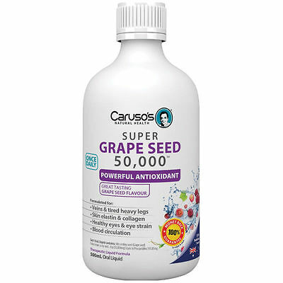 Carusos Natural Health Super Grape Seeds 50000 500Ml