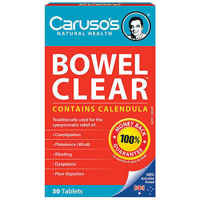 Carusos Natural Health Quick Cleanse Bowel Clear 30 Tablets