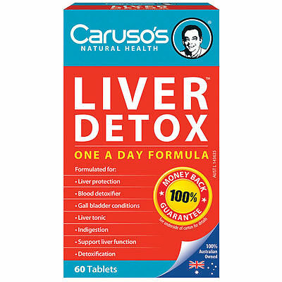 Carusos Natural Health Quick Cleanse Liver Clear Detox 60 Tablets