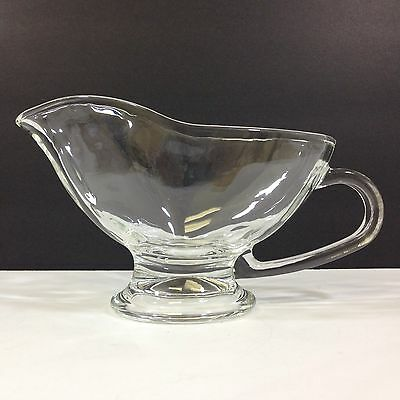 NEW CIRCLEWARE GOURMET 10oz GRAVY/SAUCE BOAT Clear Glass Hospitality Quality