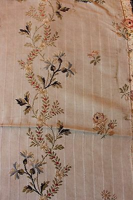 Lovely French Antique 18thC (1700s) Shabby Silk Brocade Fabric~Dolls, Home