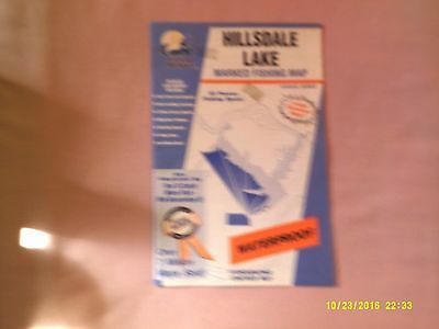 Hillsdale Lake Fishing Map Marked Hot Spots Kansas Series