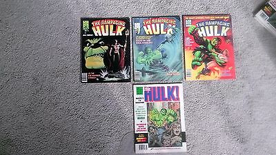 Marvel Comics Incredible Rampaging Hulk Magazine Lot # 5 7 8 16
