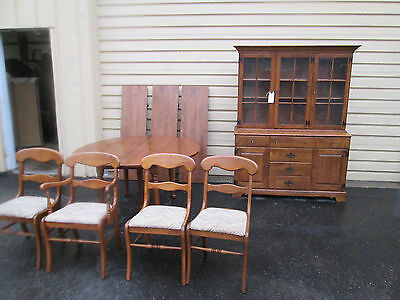 "52344  ETHAN ALLEN Early American 6 PC Dining Room Set 4 Chairs Table 106"" x 54"""