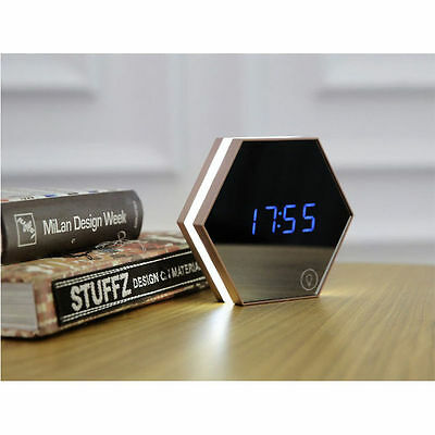 Multi-function LED Night Lights Digital Mirror Alarm Clock Thermometer 6943