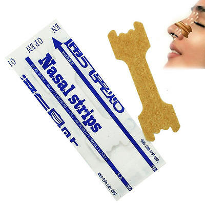 200 pcs Anti Snoring Nasal Strips Easy Breath elastic Patches Sleeping Aids