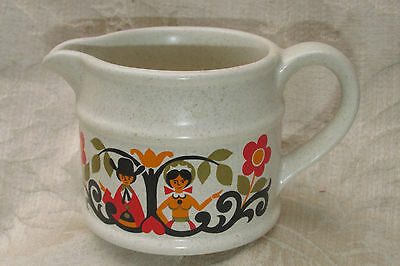 Vintage Sadler England JUG / Creamer Man Woman Tree of Life Retro Kitchenalia