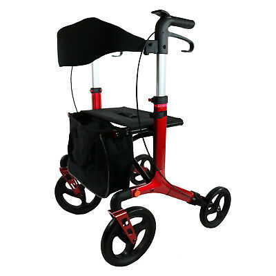 Rollator Walker Walking Frame Foldable Mobility Aid Aids Indoor Outdoor X-Fold