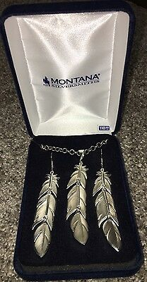 Montana Silversmiths Jewelry Womens Earrings Feather Silver ER1618RTS