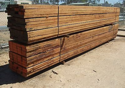 Hardwood yard rails, building, garden, landscape timber, 150mm x 38mm x 4.8m