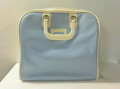 Vintage Brunswick Bowling Bag Baby Blue and White