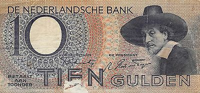 Netherlands  5.1.1943  P 59  Series 5 AB  circulated Banknote E1017
