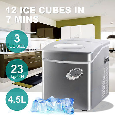 4.5L Home Portable Cube Ice Maker Machine LED Control Panel Easy Auto Snow