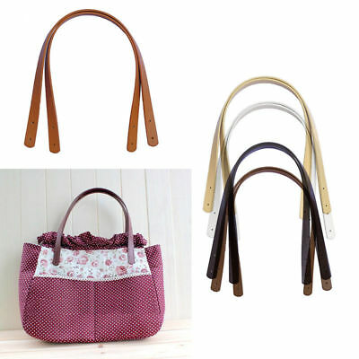 2Pcs PU Leather DIY Strap Handle Replacement for Shoulder Handbag Tote Bag
