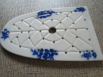 Antique Ceramic Plate for Iron Art Nouveax-with flowers