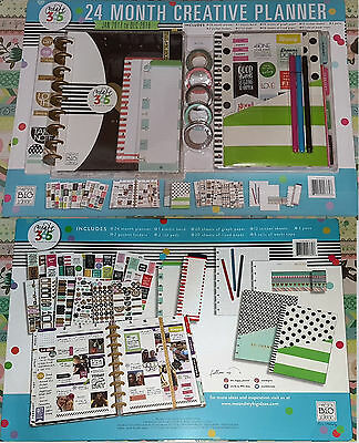 The Happy Planner My Life 24 Month Box Classic Kit 2017-2018 Stickers Washi Pens