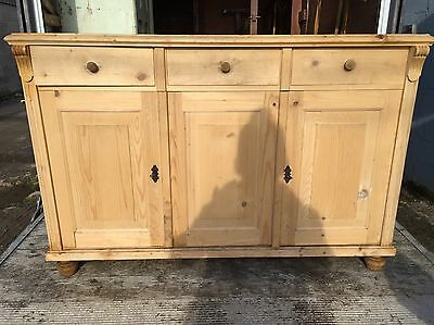 French, 19th Century, Antique, Vintage, Pine Dresser, Sideboard, Cupboard