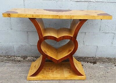 Stunning, Walnut, Art Deco Console Table, Rare, Antique, Vintage, Unusual