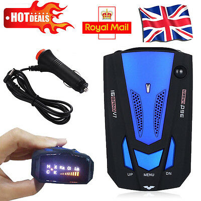 V7 16 Band 360° Degree Car Laser Radar Gun Speed Camera Police Safe Detector