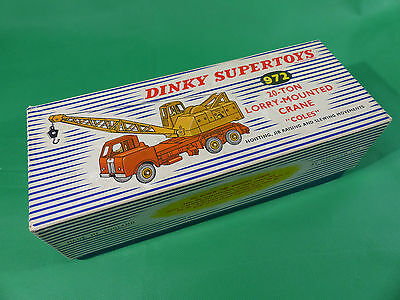 vintage Dinky Toys 972 20-ton Lorry Mounted Coles Crane in Box - NOS -