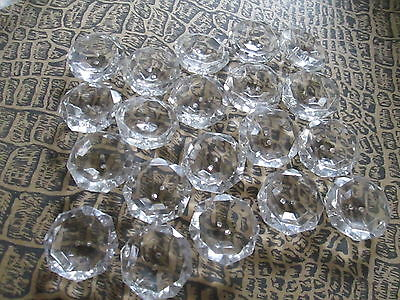 Beautiful old lot off 20 vintage button from clear cristal
