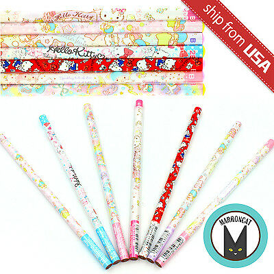 Lot 7pcs Official Japan Sanrio Hello Kitty Little Twin Star Wooden Pencils 2B B