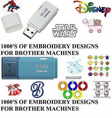 1000's Embroidery Designs On Usb Pes Format For Brother Machines M12S30
