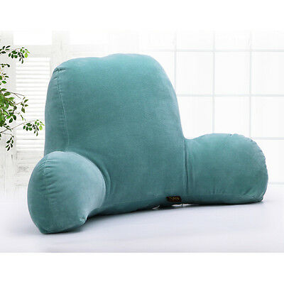 Shredded Foam Reading Pillow Neutral Stone Color Bed Back Body Rest Support
