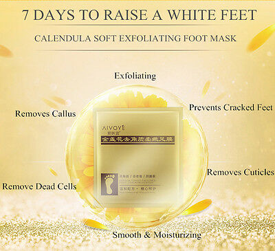 Exfoliating Foot Mask Peel off Dead/Dry skin Baby Like Feet Footcare Exfoliator