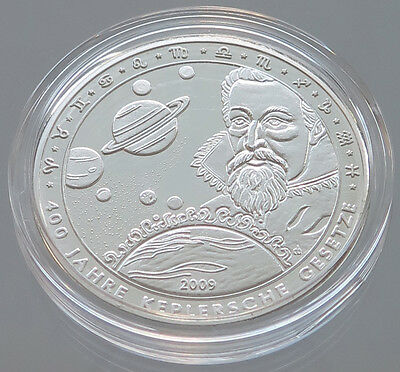 GERMANY PROOF MEDAL 400 YEARS KEPLER RULES   SILVER #p13 279