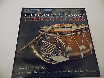"""THE REGIMENTAL BAND OF THE SCOTS GUARDS . 12"""" 33rpm LP Record . Military ."""