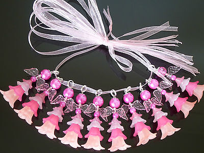 10 Fairies/Angels/bright pink charms 40mm,Girl's Party,Birthday/Christening