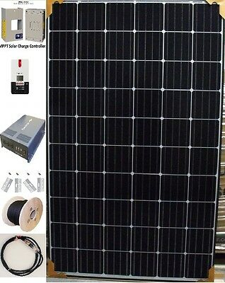 Complete Mono-Crystalline Solar Panel  Back Up System with batteries