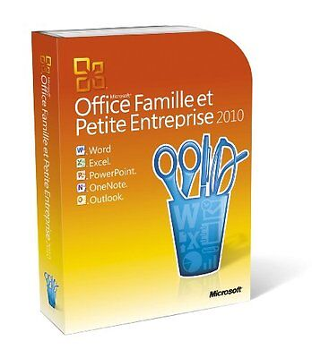 Microsoft Office 2010 Home and Business  32/64-bit Complete Product 1 PC  FRENCH
