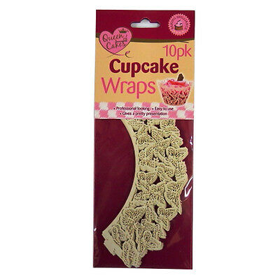 Cupcake Butterfly Wraps - Pack of 10 - by Queen of Cakes
