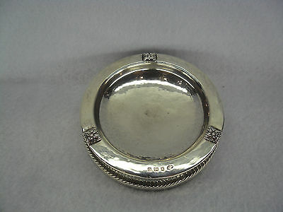 Arts & Crafts A E Jones Solid Silver Ashtray, Birmingham 1931